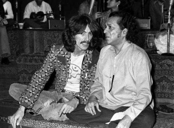 Ravi Shankar et George Harrison dans les années 1970-Photo:DR-