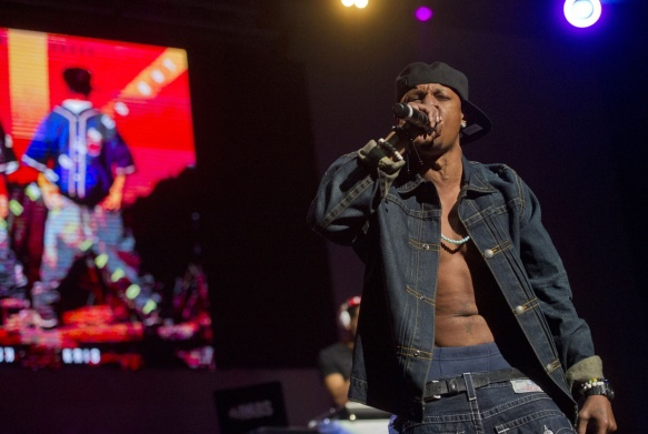 File picture shows Chris Kelly of Kris Kross performing in Atlanta